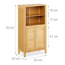 badezimmerschrank lamell bambus