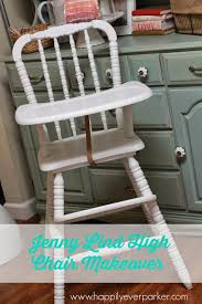 1980s jenny lind high chair makeover happily ever parker