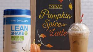 Iced Pumpkin Spice Latte Nutrition Facts by Gnc Let U0027s Make A Lean Shake Pumpkin Spice Latte Youtube
