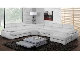 canape panoramique canapé panoramique cuir 7 places elevanto noir ou blanc
