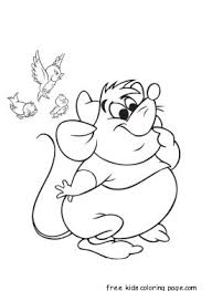 Printable Cinderellas Mice And Birds Coloring Pages For Kidsfree Online Disney Characters