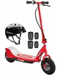 Razor E300 Electric 24 Volt Motorized Ride On Kids Scooter With Helmet And Pads