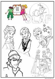 Frozen Coloring Pages Free Printable 01
