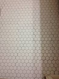 Regrout Old Tile Floor help poorly laid hex tile should we have it redone