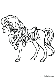 Horse Coloring Pages Online Free Big Kiss Nice Galloping Horses