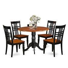 East West Furniture DLLG5 BCH W 5 PC Dining Table Set With One Dublin