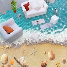 beibehang delphin strand muscheln nach 3d wandbild tapete badezimmer 3d boden wandbild pvc selbst adhesive vinyl wand papier home decor
