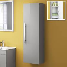 hoch moderner badezimmer schrank aufbewahrung möbel einheit wand aufgehängt schrank regal grau 1200 mm mf840