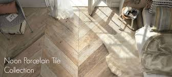 noon wood look porcelain tile collection