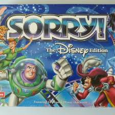 Sorry Board Game Disney Edition Great Condition Nothing Missing