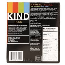 Plus Nutrition Boost Bar Cranberry Almond And Antioxidants 14 Oz 12 Box