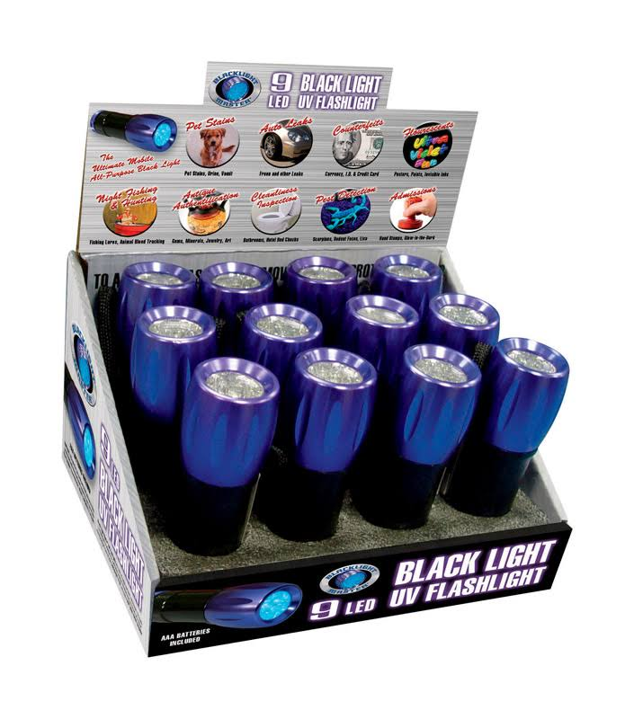 Blacklight Master UV Black Light Flashlight