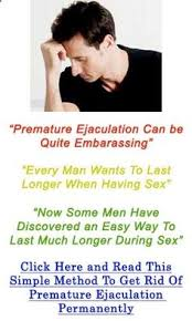 Premature ejaculation cure