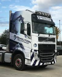 Demolition Services Volvo FH- Fleet Wrap Commercial Vehicle Wrap Project