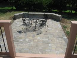 Patio Paver Ideas Pinterest by Paver Patio Off Deck With Sitting Wall Step Down Patio Off Of