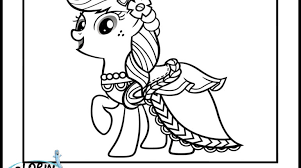 Movies Applejack Coloring Pages Little Pony