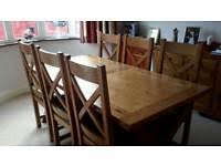 For Sale Dining Table And 6 Chairs