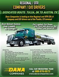 100 Truck Driving Jobs Craigslist Wagoner Oklahoma Dedicated Routeregionalotrcompanyoo Drivers Dana