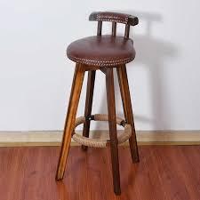 drehbare bar stuhl hocker massivholz 4 bein esszimmer stuhl bar zähler stuhl hohe hocker mit niedriger rückenlehne kommerziellen möbel