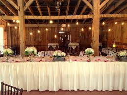 Head Table With Rustic Barn Wood Boxes