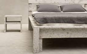 exklusiver design nachttisch aus stein des möbellabels wohnstein