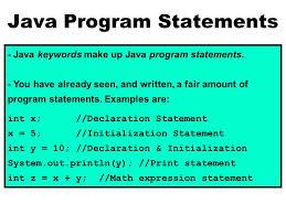 Math Ceil Java Int by Java Program Components Java Keywords Java Has Special Keywords