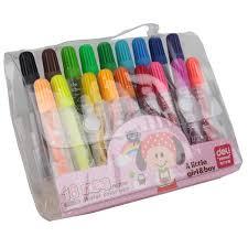 20 Color Premium Painting Pen Set Watercolor Markers Effect Best For Coloring Books Manga Comic