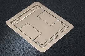 four compartment single or multi service recessed floor box rfb4