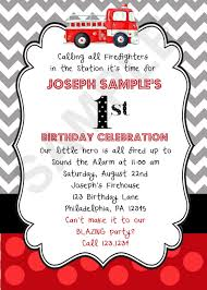 Firetruck Birthday Invitation (Digital File) On Luulla
