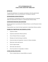 Child Care Resume Duties Excellent Provider Template Il O7219