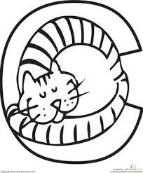 Color The Cat Letter C