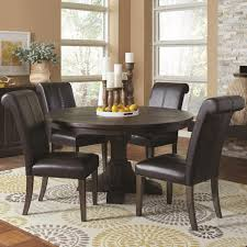 Shop French Baroque Designed Round Dining Set With Matching Storage Inside Table Buffet Model