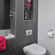 Grey Tiles In Bathroom by Bathroom With Grey Tiles And Pink Accents Grey Tiles Pink