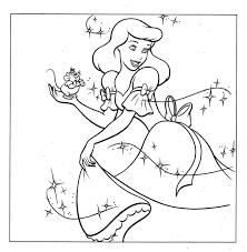 Cinderella Coloring Pag Great Book Games