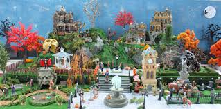 Lemax Halloween Village Displays by Model Halloween Villages And Miniature Spooky Towns Christmas