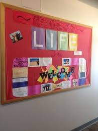 Welcome Bulletin Board Residents Write Information On The Puzzle