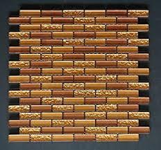 Copper Tiles For Backsplash by Vogue Premium Quality Copper U0026 Gold Glass Mixed Brick Pattern