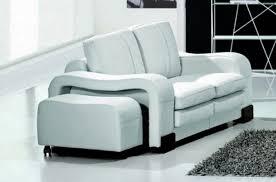 canapé 2 places en cuir italien rosso blanc mobilier privé