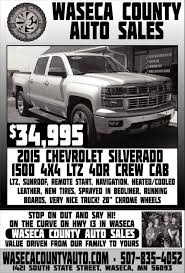 2015 Chevrolet Silverado 1500 4x4 LTZ 4DR Crew Cab, Waseca County ... New 2019 Ford F150 For Sale Reno Nv Vin1ftmf1cb4kkc04259 2011 Used Dodge Ram 1500 Slt Quad Cab Pickup Iowa 80 Truckstop Paul Sarmento Owner One Stop Auto Sales Linkedin Featured Vehicles Petrus Lime Ridge 1 Of 2 Trucks Were Setting Up At Motorama Garys Sneads Ferry Nc Cars Trucks K R Suvs Vans Sedans For Sale N Shine And Detailing Home Facebook 2009 Chevrolet Silverado Lt Pine Grove Pa