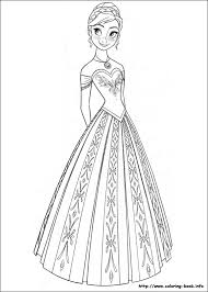 Frozen Coloring Page Anna