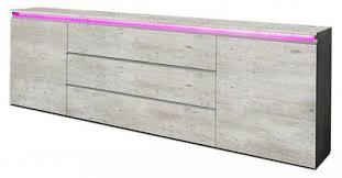 sideboard anbauwand wohnzimmer wohnwand beton optik matt 240