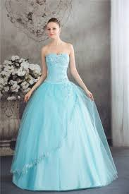 light blue beading corset back prom military ball gowns