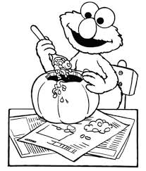 Free Elmo Halloween Coloring Pages
