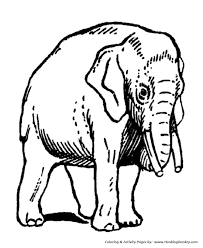Domesticated Elephants Coloring Page