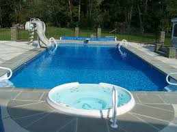 Inground Pools With Diving Board And Slide Charming 3