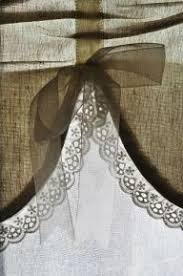 Idea For A Simple Burlap Valance With Lace Use Velvet Bow Curtains Below