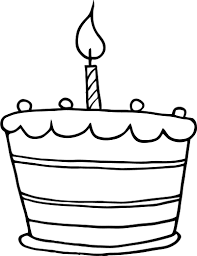Detail printable birthday cake one candle working sheet