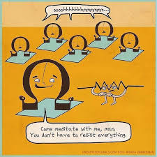 Pun Cartoon About Ohms In Meditation Class And Doing Yoga Resistance More Puns Science Comics Electrical Humor From Unearthed