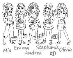 Collection Of Solutions Lego Friends Coloring Pages With Additional Sample