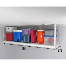 saferacks 2 ft x 8 ft overhead garage storage rack and accessories kit
